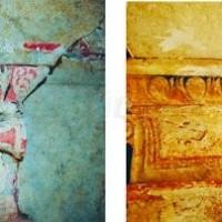 Ευρήματα των ανασκαφών στο ταφικό μνημείο της Αμφίπολης - Παρατηρείται σε άψογη κατάσταση το Λέσβιο Κυμάτιο