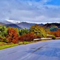 Χιονισμένα τα βουνά της Ερεσού